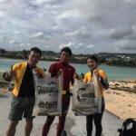 沖縄本島ビーチスポットの清掃活動